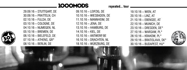 1000mods - Repeated Tour 2016