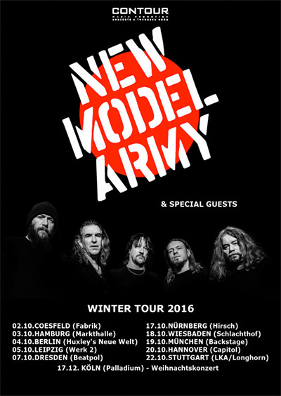 New Model Army - Winter Tour - 2016