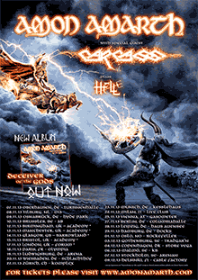 Amon Amarth - Tour 2013