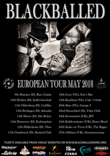 Blackballed European Tour May 2018