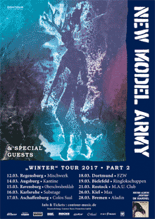 New Model Army - Winter Tour Part 2 - 2017